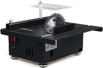 Mini sierra de mesa, sierra de mesa portátil de 40 mm con calibre de inglete y mesa de elevación ajustable de velocidad continua para bricolaje, manualidades con modelos de madera hechos a mano, cor