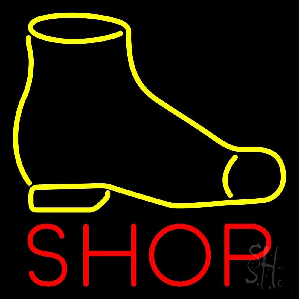Yellow Shoe Red Shop LED 2021 new Neon Sign Black x - Spring new work one after another Squar inches 16