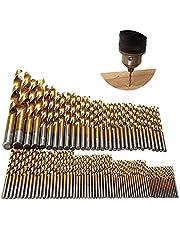 Hss Boor Set, EXCEED 99 Stks Titanium Coated Hoge Snelheid Staal Tool 1.5mm-10mm Micro Boor Gat Tool voor Hout Plastic, Hout Boor