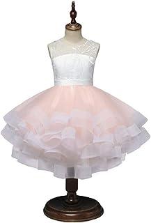 AIOJY Vestidos De Niña De Las Flores Elegante Vestido De Niña Partido De La Ceremonia De Boda Gasa Falda Tutu Ropa De Niño...