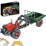 TRCS Técnica teledirigida tractor bloques de construcción con motor, Mould King 17005, colección de vehículos pesados granjas, 1312 bloques de construcción compatibles con Lego