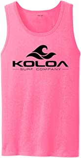 Koloa Classic Wave Logo Tank Tops in 27 Colors. Adult Sizes: S-4XL