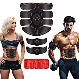 Abs Muscle Toner EMS Abdominal Toning Belt Abdominal Muscle Trainer for Men Women Portable Wireless Fitness Work Out Equipment for Arms, Abdomen at Home Office Ab Maker