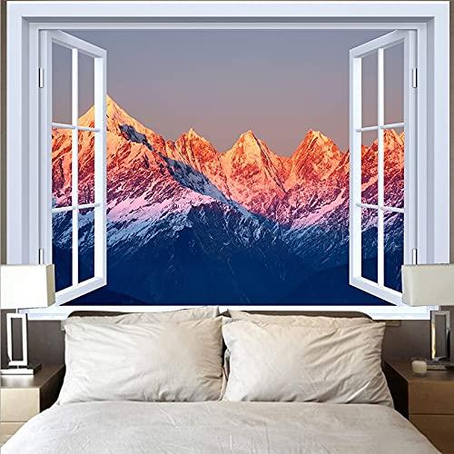 Tapiz de montaña tapiz paisaje lago puesta de sol gran ola tapiz paño de pared decoración del hogar fondo tapiz de tela A22 130x150cm