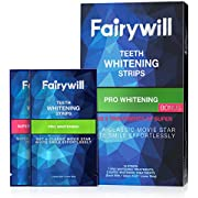Fairywill Pro Teeth Whitening Strips Non-Slip for Sensitive Teeth, 3D White Strips Remove all Manner of Stains in 30mins, 18 Pcs Teeth White Strips Dental Formula