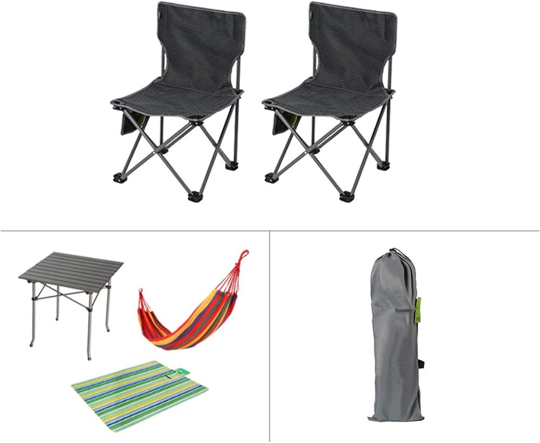Ssok chair Satz Portable Klappstuhl Schreibtisch,Portable Folding Stuhl Tisch Mit Backrest Lagerung Tasche Und Carry Bag Angeln Reise Wandern Picknick-h