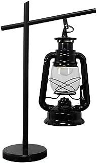 Estilo moderno lámpara de mesa de LED lámpara de mesa de la vendimia huracán linterna blanco cálido eléctrico lámpara de k...