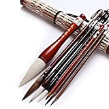 ANCLLO Excelente cepillo de caligrafía china Kanji japonés Sumi cepillo de dibujo (4 tamaños con bolsa de cepillo)