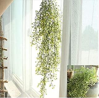Gotian Artificial Fake Silk Flower Vine Hanging Garland Plant Home Garden Wedding Decor ~ Perfect Decorative Flowers for Bedroom, Drawing Room, Hotel, Desk (B)