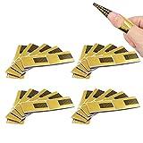 ShengRuHai Moldes Uñas Guías Extensión Pegatinas Formas Para UV Gel pegatinas de uñas soporte de papel oro Bandeja de papel de manicura 200 Hojas