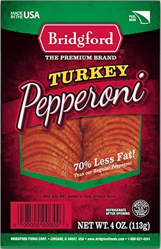 Bridgford Sliced Turkey Pepperoni, Gluten Free, 70% Less Fat,