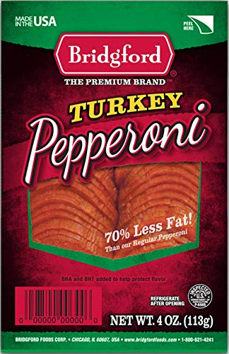 Bridgford Sliced Turkey Pepperoni, Gluten Free, 70% Less Fat,