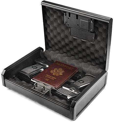 AEGIS Biometric Handgun Safe Pistol Safe , Fingerprint Hand Gun Safe Case Handgun Safe for Home