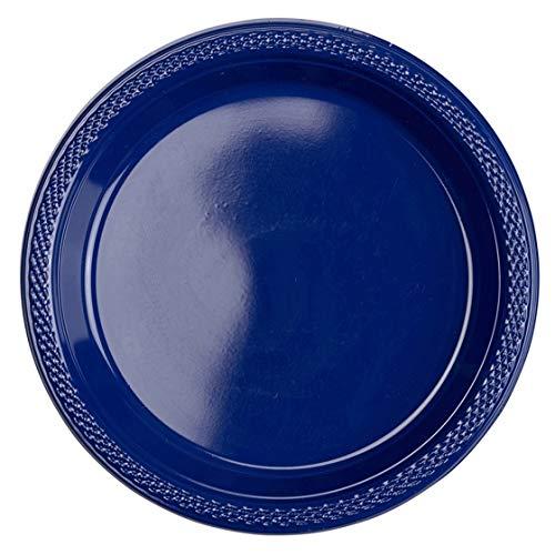 amscan International Lot de 50 Assiettes en Plastique Transparent 17,7 cm
