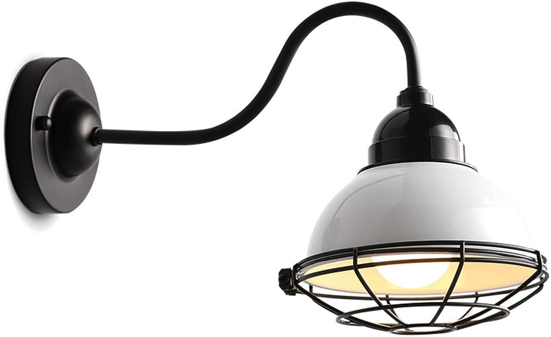 NJ Wandlampe- Vintage Eisen Wandleuchte, Wohnzimmer Schlafzimmer Cafe Bar Korridor Gang Restaurant Dekoration Licht, E27 Lichtquelle