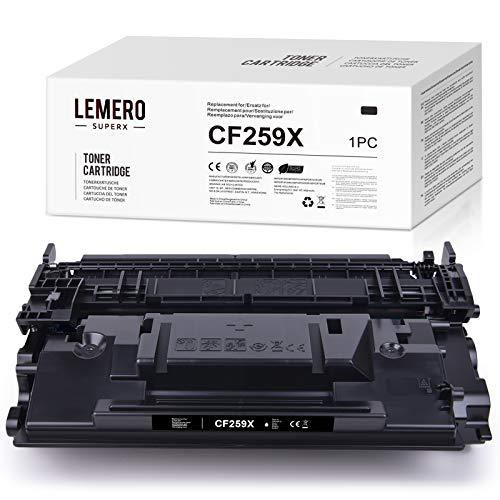 LEMERO SUPERX Toner Kein Chip Kompatibel fur HP 59X CF259X fur HP Laserjet Pro M304 M404n DN dw MFP M428dw fdn fdw 1xSchwarz