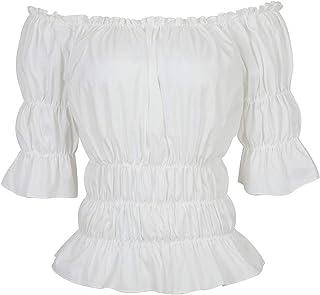 Women Renaissance Blouse Victorian Steampunk Pirate Shirt...