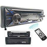 Hengweili 1 Din Autoradio CD Lettore DVD Stereo Ricevitore/Bluetooth FM AUX USB SD MP3 / Pannello frontale staccabile/Telecomando wireless / 12V
