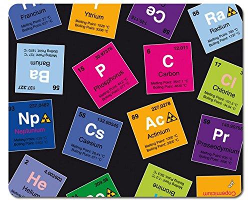 1art1 Periodensystem Der Elemente - Kohlenstoff, Barium, Brom, Radium, In Englisch Mauspad 23 x 19 cm