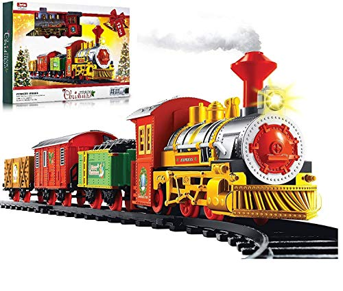 Unibos Deluxe Christmas Train Set With Realistic Sounds & Light Battery Operated 330cm Long Track