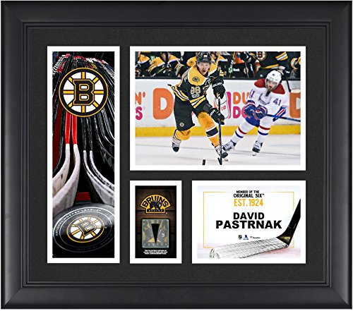 David Pastrnak Boston Bruins Framed 15' x 17' Player Collage with a Piece of Game-Used Puck - NHL Player Plaques and Collages