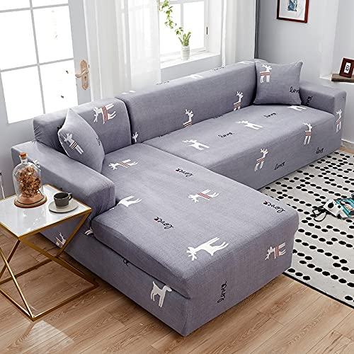 WXQY Funda de sofá Moderna para Sala de Estar Funda elástica Funda de sofá en Forma de L Funda de sillón de Esquina Funda de sofá Funda de sofá A14 1 Plaza