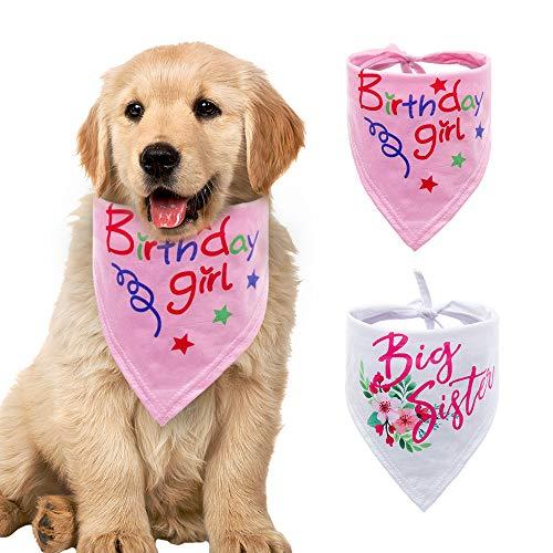YCZ Hond Bandana 2 stks Zuster Bibs Sjaal, Katoen Zachte Huisdier Bib Driehoek Huisdier Sjaal Accessoires Wasbaar en Verstelbaar (voor Katten en Honden Huisdieren) (2 stijlen), Kleur: wit