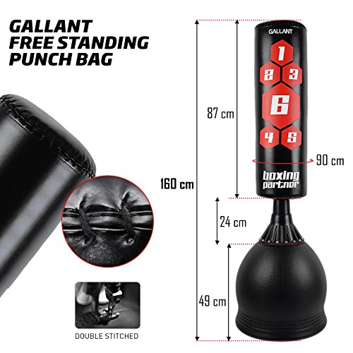 Gallant Black-Target Free Standing Boxing Punch Bag - Excellent Quality Heavy Duty Punch Bag/Kick Boxing/Martial Ats/MMA Dummy Equipment