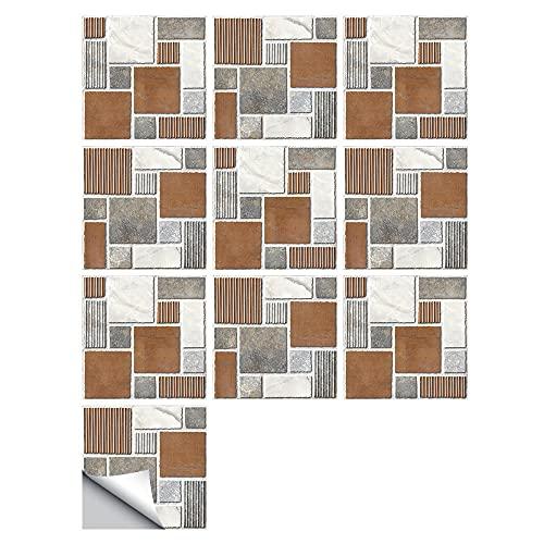 Pegatinas para azulejos de país americano, impermeables, autoadhesivas, para decoración de muebles de cocina, baño, 20 cm x 20 cm x 10 unidades