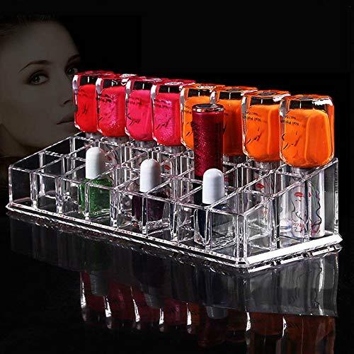 GIUJIFGS 24 Grille Cosmétiques Rack Affichage Boîte De Stockage Transparent Vernis À Ongles Boîte De Stockage De Rouge À LèvresGIUJIFGS