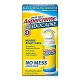 Aspercreme Odor Free Max Strength Lidocaine Pain Relief Liquid With Roll-On No Mess Applicator, 2.5 oz. 2pk