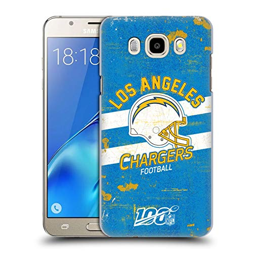 Head Case Designs Oficial NFL Casco Distressed Look 100th 2019/20 Los Angeles Chargers Carcasa rígida Compatible con Samsung Galaxy J5 (2016)