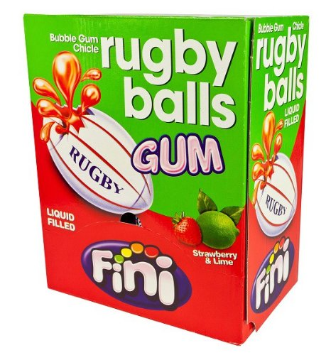 Rugby Balls Gum Display 200 St. Menge:1 Packung