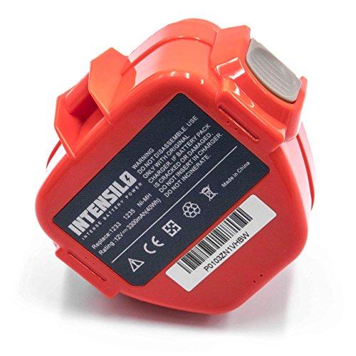 INTENSILO Batería reemplaza Makita 1220, 1222, 1233, 1234, 1235, 1235F, 1250, 192536-4, 192597-4 para herramientas eléctricas (3300mAh NiMH 12V)