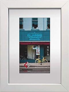 artvera Cadre photo en bois DIN A4 Blanc (21 x 29,7 cm)