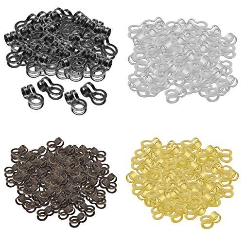 harayaa 400 Piezas 0,5 '' Broche de Conector de Collar DIY Suministros de Fabricación de Joyas Decorativas