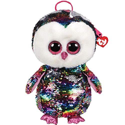 SHANGZHIQIN Búho con Mochila de Arco, Juguete de Peluche para niños, muñecos de Peluche, Almohada de algodón Suave, Regalo de cumpleaños para niños de 13 Pulgadas y 33 cm
