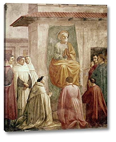 """St. Peter in The Teachers Chair by Masaccio - 24"""" x 30"""" Canvas Art Print Gallery Wrapped - Ready to Hang"""