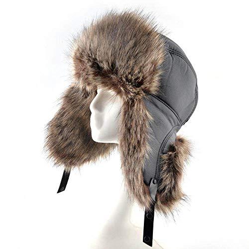 Sombrero De Trampero Unisex Invierno,Sombreros De Invierno De Los Hombres De Brown...