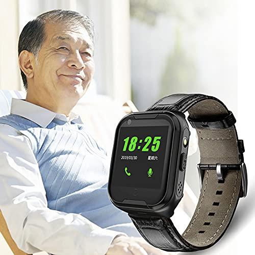 FVIWSJ Niños/Mayores Smartwatch Impermeable, Reloj Inteligente Phone con LBS Tracker SOS Chat de Voz Cámara Despertador Cálculo para Regalos Compatible con iOS Android