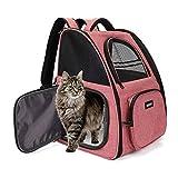 FREESOO Transportin Gato Mochilas para Gatos y Perro Bolsa para Mascotas Transporte Plegable Portador de Viaje Transpirable Carga Máxima 6.5 kg para Vajar en Tren/Automóvil/Restaurante/Avión