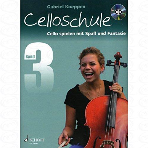 CELLOSCHULE 3 - arrangiert für Violoncello - mit CD [Noten/Sheetmusic] Komponist : KOEPPEN GABRIEL