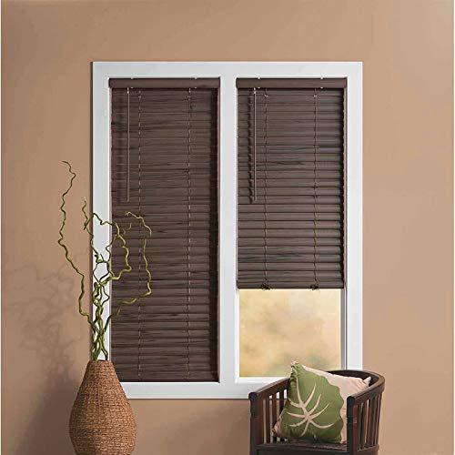 "PowerSellerUSA Achim Home Furnishing Cordless GII Luna 2"" Slat Mahogany Venetian Window Blinds 32"" W x 64"" L"