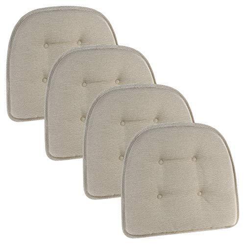 Klear Vu Saturn Dining Chair Pad Cushion, Set of 4, Natural