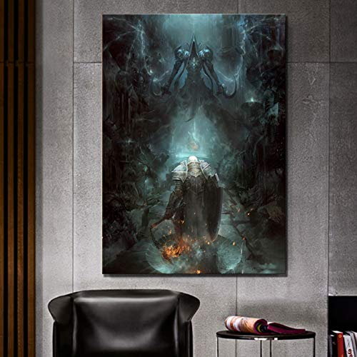 mauroan HD Pictures 1 Piece Diablo 3 Poster Games Art Paintings for Home Decor Wall Art