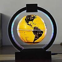 MYERZI 教材 学習 グローブ球地図の色LEDライト6インチ浮動地球儀反重力磁気浮上回転世界マップギフト装飾フローティング世界を探検 世界地図付き