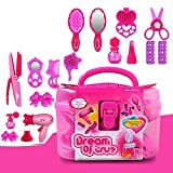 TOHHOT Kids Beauty Salon Toys Estuche de Belleza con secador de Pelo Comb Perfume Bottle Lipstick Girls Pretend Play Toys Set