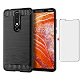 Phone Case for Nokia 3.1 Plus 6.0 inch and Tempered Glass