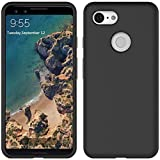 Cassby Back Case Cover for Google Pixel 3, Soft Flexible Matte Finish Smooth Grip Candy Case - Black