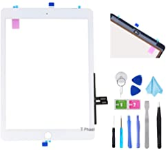 "T Phael White Digitizer Repair Kit for iPad 9.7"" 2018 iPad 6 6th Gen A1893 A1954 Touch Screen Digitizer Replacement (Without Home Button) +Pre-Installed Adhesive + Tools"